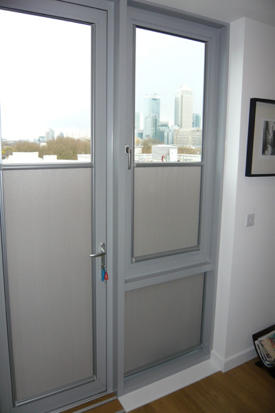 Patio Door And Tilt And Turn Window With Silver Framed Nano Blinds Fitted Jpg