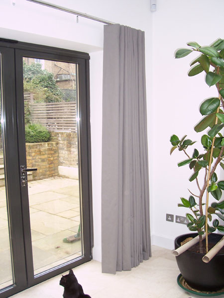 Wave System Curtains On 30mm Chrome Silent Gliss Metropole