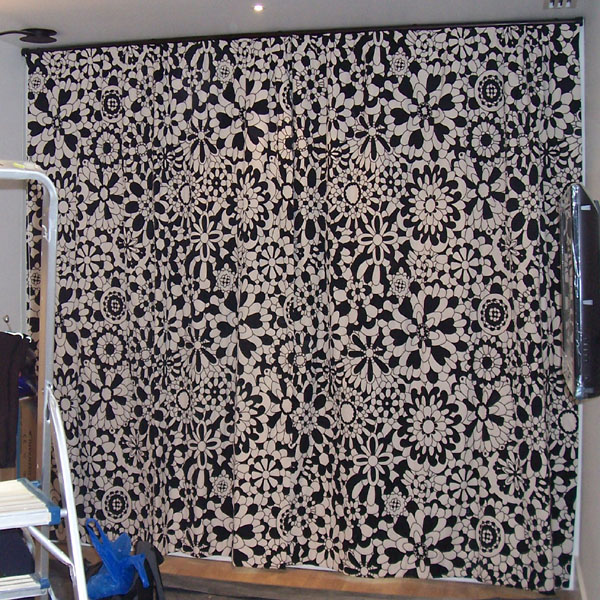 30mm Black Metropole With Black And White Missoni Fabric Undergathered To  Display The Fabric