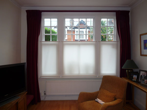 Changing Curtains Bottom Up Roller Blinds Fitted In Friern Barnet