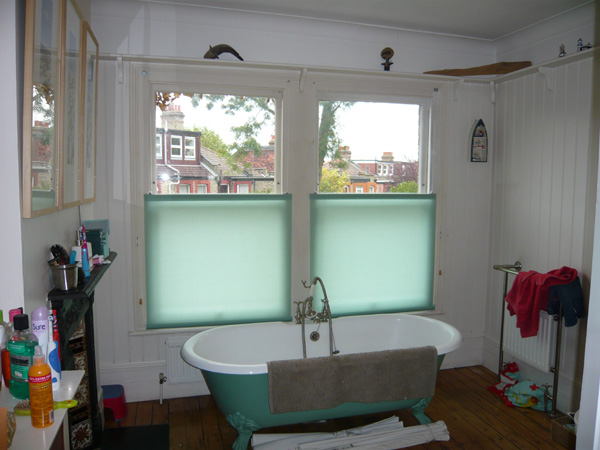 Changing Curtains Bottom Up Blinds Fitted In Highgate