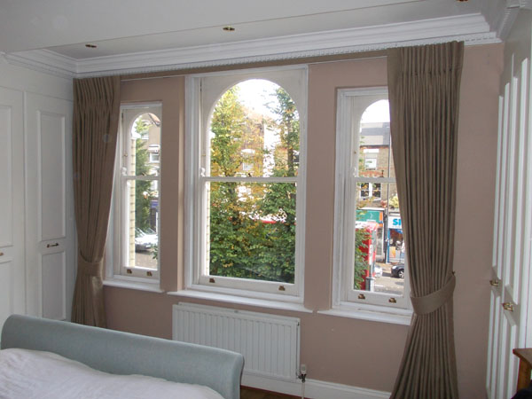 Covered Fascia Blackout Lined Curtains Double Duty Track