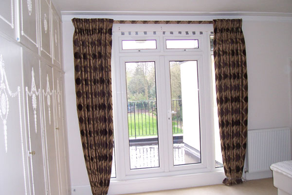 Curtains Ideas blackout pinch pleat curtains : Covered fascia and Blackout lined Pinch Pleat curtains installed ...