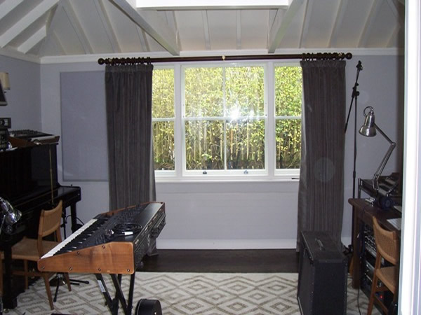 Acoustic curtains fitted in Hampstead, North London