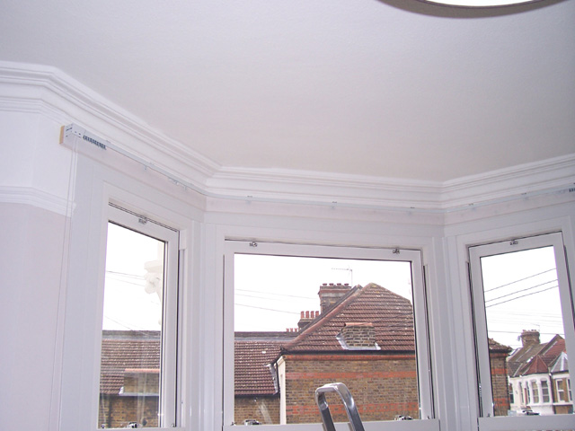 Curtains Ideas bay window curtain pole ceiling fix : Changing Curtains Highgate North London N6 5BB Poles and Tracks