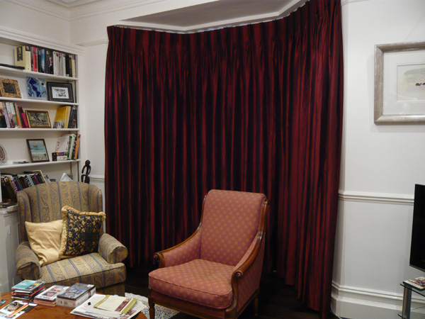 Image Result For Red Pleated Curtains