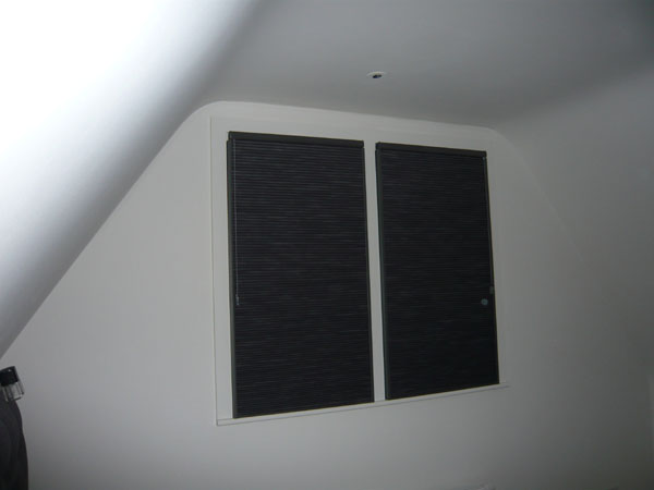 Blackout blinds genesis blackout grey taylor west Motorized blackout shades with side channels