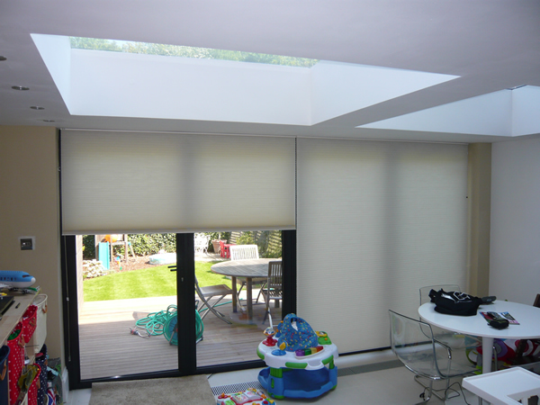 Duette Blinds Fitted At Modern Folding Doors In London