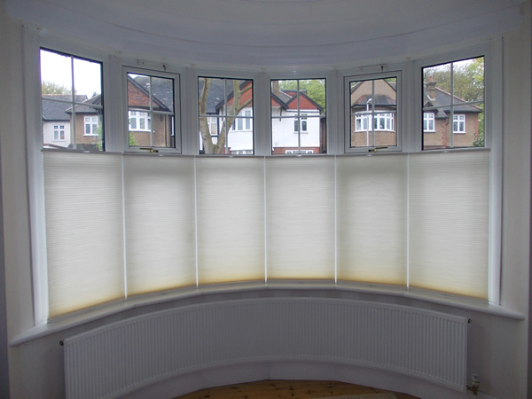 Top Down Bottom Up Luxaflex Duette Blinds At A Bow Window