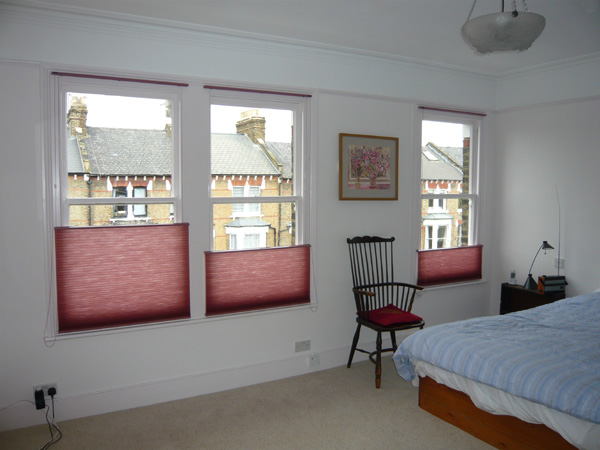 Changing Curtains Duette Bottom Up Blinds Installed In