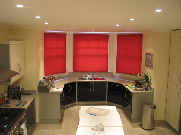Roller blinds installed in a kitchen in Muswell Hill