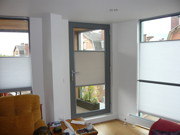 Luxaflex Nano blind fitted to a door in London 1.jpg