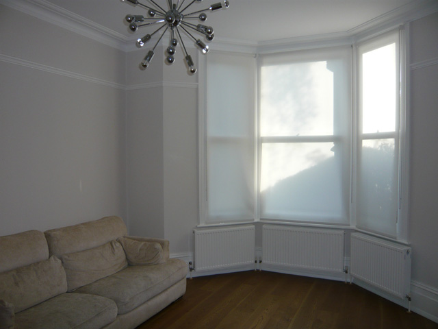 Bay window shutters - Roller Blinds Fitted In Muswell Hill North London