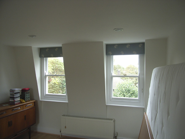 Blackout Roman Blinds On Dormer Windows Crouch End North