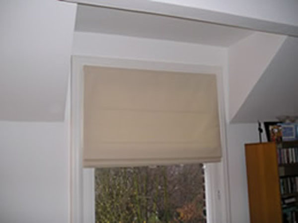 Simple Roman Blind Fitted In Kensington West London