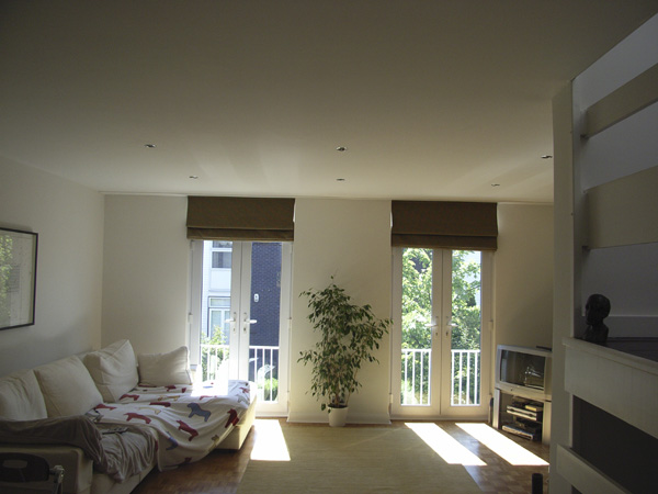 Roman Blinds On Tall Patio Doors