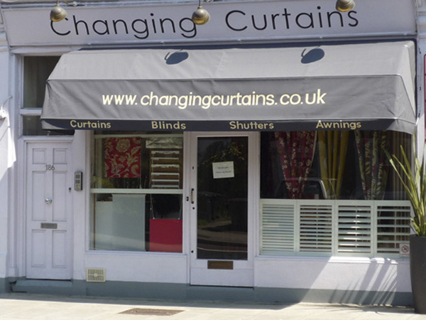 Changing Curtains Highgate North London Curtains Blinds Shutters Awnings    Shopfront Photo