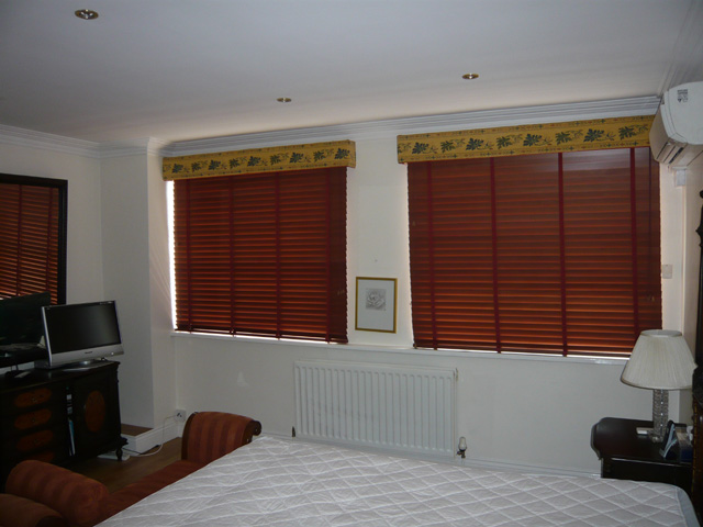 Real Cherrywood Slatted Venetian Blinds In Kensington West